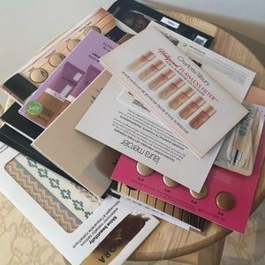 Lot of 14 foundation trial cards & tattoos NWT
